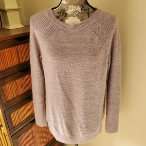 Lou & Grey Alpaca Blend Heathered Lilac Sweater M